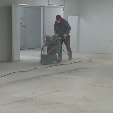 Installation Video 1, Grind the Concrete Floor